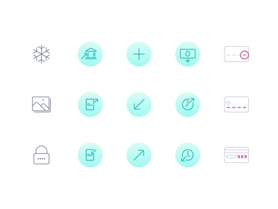 Onvoy icons lock freeze card card details withdraw request money send money money transfer bank transfer ux design ux ux  ui mobile app mobile ui ui icon design iconography icon set icons