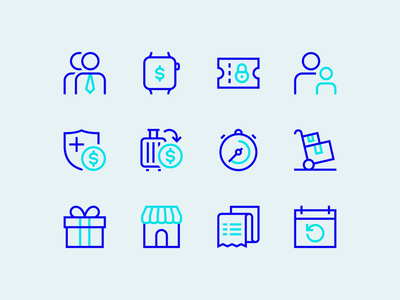 Weavr icons subscription instant icon design iconography vibrant fintech payment platform payments employee expenditure expenditure subscriptions supplier wearables gift marketplace pobo icons set iconset icons icon