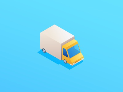Truck icon fleet management gradients truck icon truck isometric design isometric icons isometric illustration vector icon