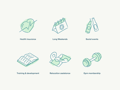 Ixaris culture icons playful hand drawn insurance health insurance social long weekend icon set gym membership gym relocation personal development training culture benefits perks icon design iconography icons set icons icon