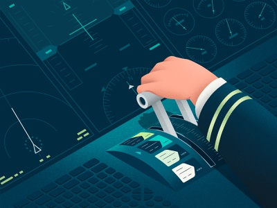 Airlines need payments flexibility—at full flight branding travel texture plane pilot travel payments payments noise shadow illustration grain texture grain flight instrument flight display fintech branding fintech covid19 coronavirus airplane airlines airline