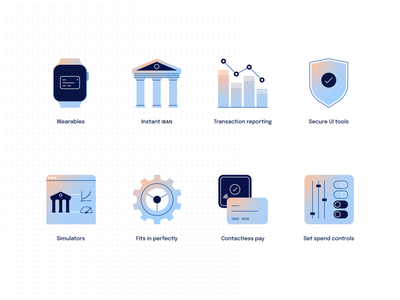 Weavr icons simulator secure bank icon ux design ui design settings contactless spend control icon design iconography iconset icons icon report wearables iban embedded banking financial technology fintech banking