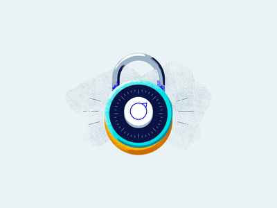 Security texture secure security padlock safe illustration vector icon iconography textures brushes fintech icons combination lock lock dial