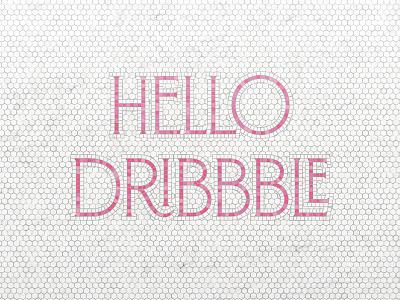 Hello Dribbble! typography type lettering tiles fauxsaic mosaic