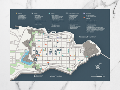 Valletta map