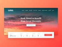 Luna landing page