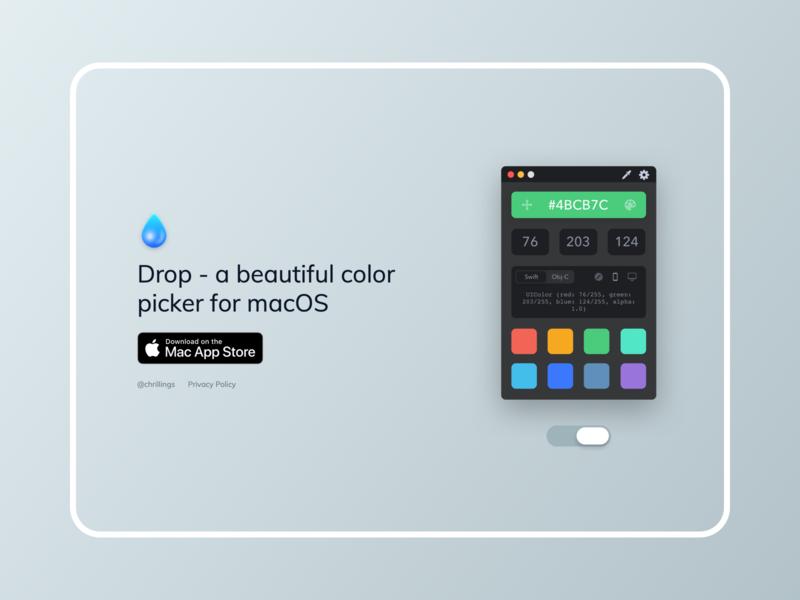 Drop Simple Website website rgb swatches picker palette mac icon hex colors app