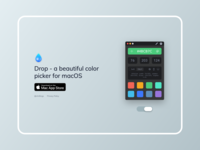 Drop Simple Website website rgb swatches picker palette mac icon hex colors app