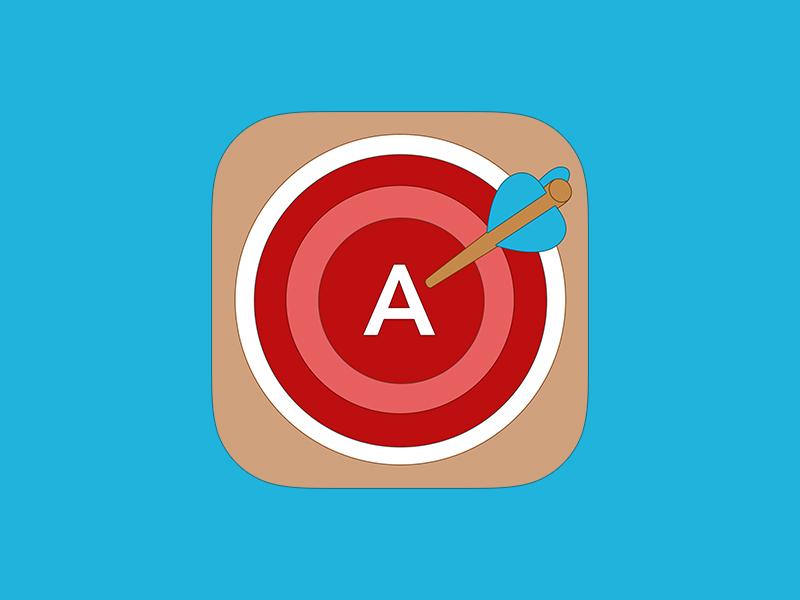 Grades iOS 7 Icon grades ios 7 icon app iphone wood target arrow ios