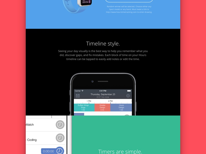 Hours New Website hours iphone 6 apple watch app ui time tracking website invoice reports