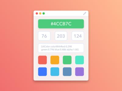 Drop - Color Picker drop rgb hex swatches mac picker palette colors app
