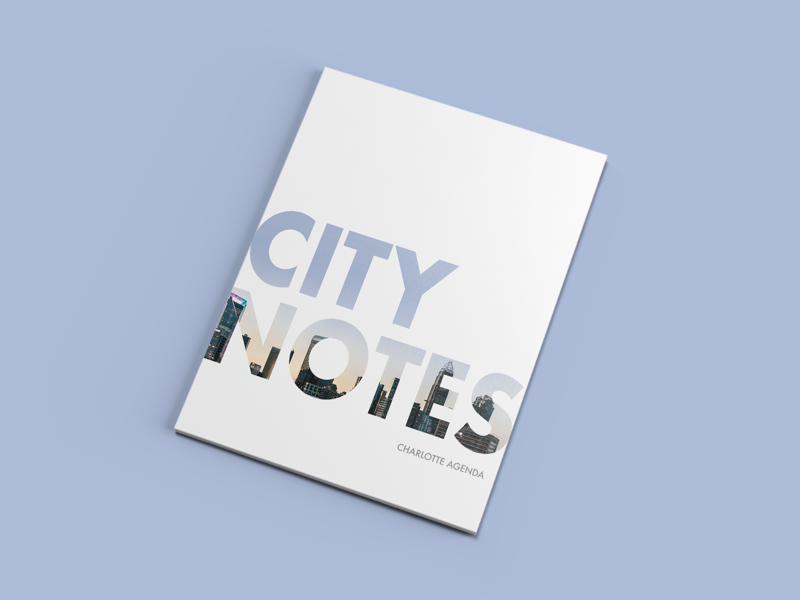 Charlotte Agenda Magazine - City Notes zine spread simple clean ca white space cover magazine agenda charlotte