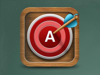 Grades Pro App Icon target ios app icon iphone wood grades