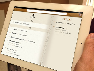 Languages iPad App - Favorites & Themes