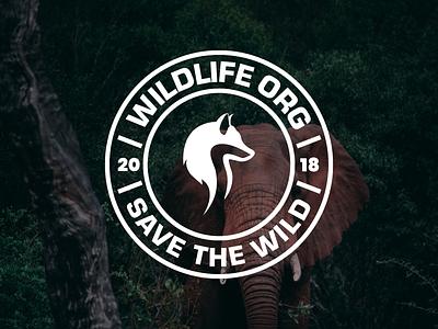 Wildlife - Logo Badge wolf logo design fox logo design wildlife badge badge logo identity design branding logo brand identity design animal logo design