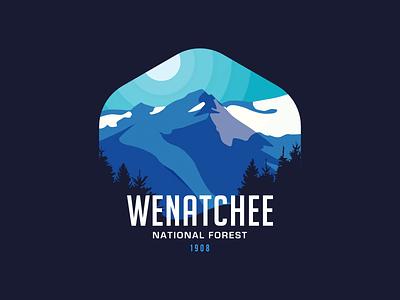 Wenatchee National Forest - Badge Design national forest badge design wildlife nature badge design design quests thirty logos wenatchee national forest