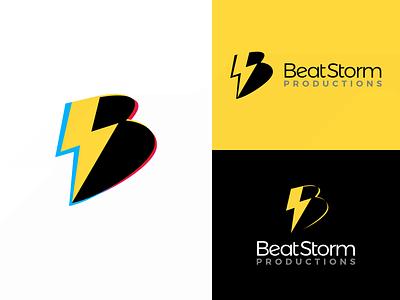 BeatStorm Productions - Logo Design quirky logo design media company logos b logo design logo design graphic design identity design logo