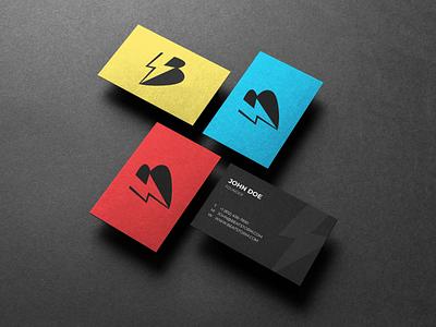 BeatStorm Productions - Business Cards logo design business card design business card branding