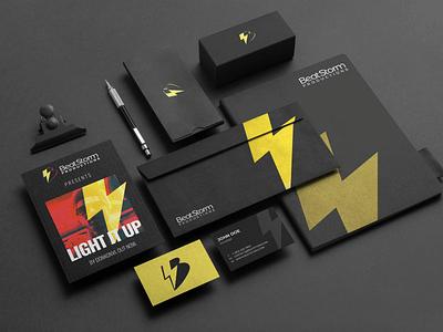 BeatStorm Productions - Stationery media company stationery design stationery