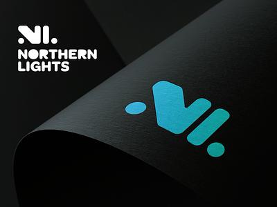 Northern Lights Advertising - Logo Design branding northern lights advertising aurora borealis northern lights brand identity design logo design logo