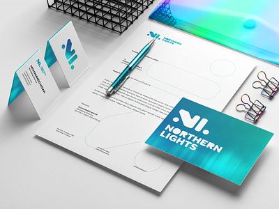Northern Lights - Stationery northern lights business card design stationery design brand identity design
