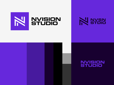 NVISION STUDIO - Lockups & Color Palette identity branding logo design logo brand identity design