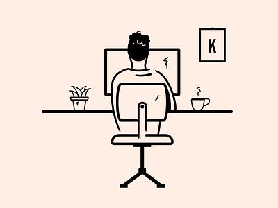 Frontend developer - illustration frontend developer frontender frontend branding application web vector illustration identity design
