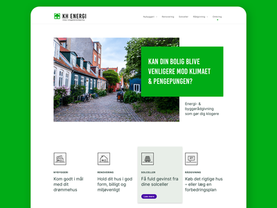 KH ENERGY - Website ux hero spot header icons energy green design web ui website
