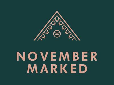 November marked marked branding identity