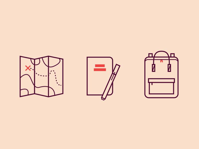 Identity icons icon icons set icons design portfolio travel icons