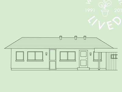 Where I lived #1 icon home building illustration illustrator