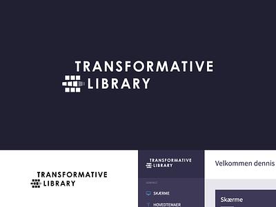 Transformative library product branding branding logo icon cordura product brand design library identity