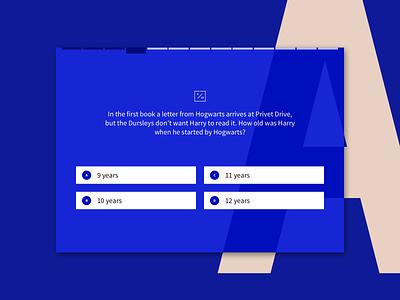 Quiz Interface harrypotter sketch touchscreen ui design cordura quiz design quiz