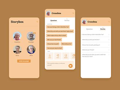 Storybox minimal sketch invision invisionstudio identity application design app
