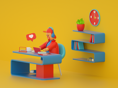 Doing Things design ux illustration ui 3d