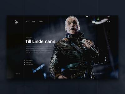 Rammstein - Till profile metal band metal website web ui