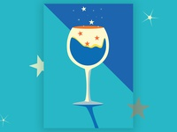 Wine Glass simplified illustration