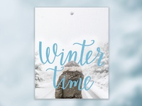 Winter time hand lettering design