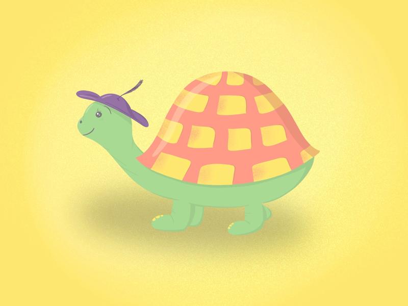 Happy turtle illustration turtle procreate ipad pro ipad illustrator illustration fun drawing design colorful artwork