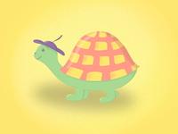 Happy turtle illustration