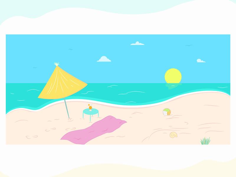Summer illustration artwork illustrator art designer design illustrator cocktail illustration sea beach summer
