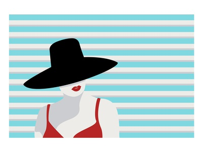 Simplified woman illustration