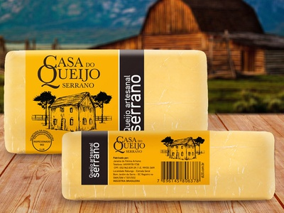 Packaging design for Cheese factory illustration design package package design label label design