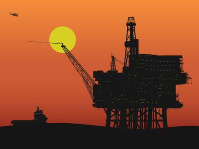 Industrial Sunset oil rig platform oil sunset industrial