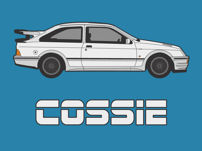 Cossie cosworth sierra ford 80s cossie car