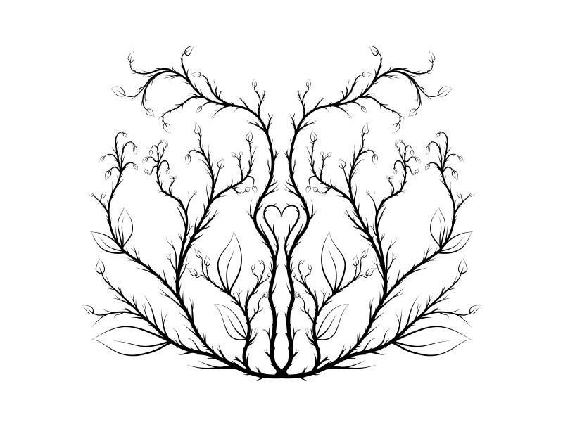 Symmetric Vines vines symmetrical symmetry