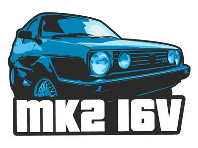 Golf GTI sticker logo car