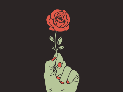 Rose In Hand hand rose