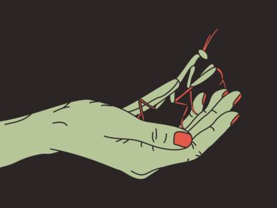 Mantis In Hand hand mantis