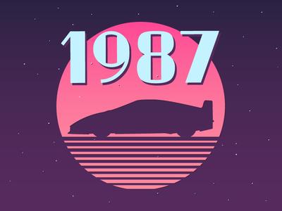 1987 1987 87 ferrari retro car 80s style 80s